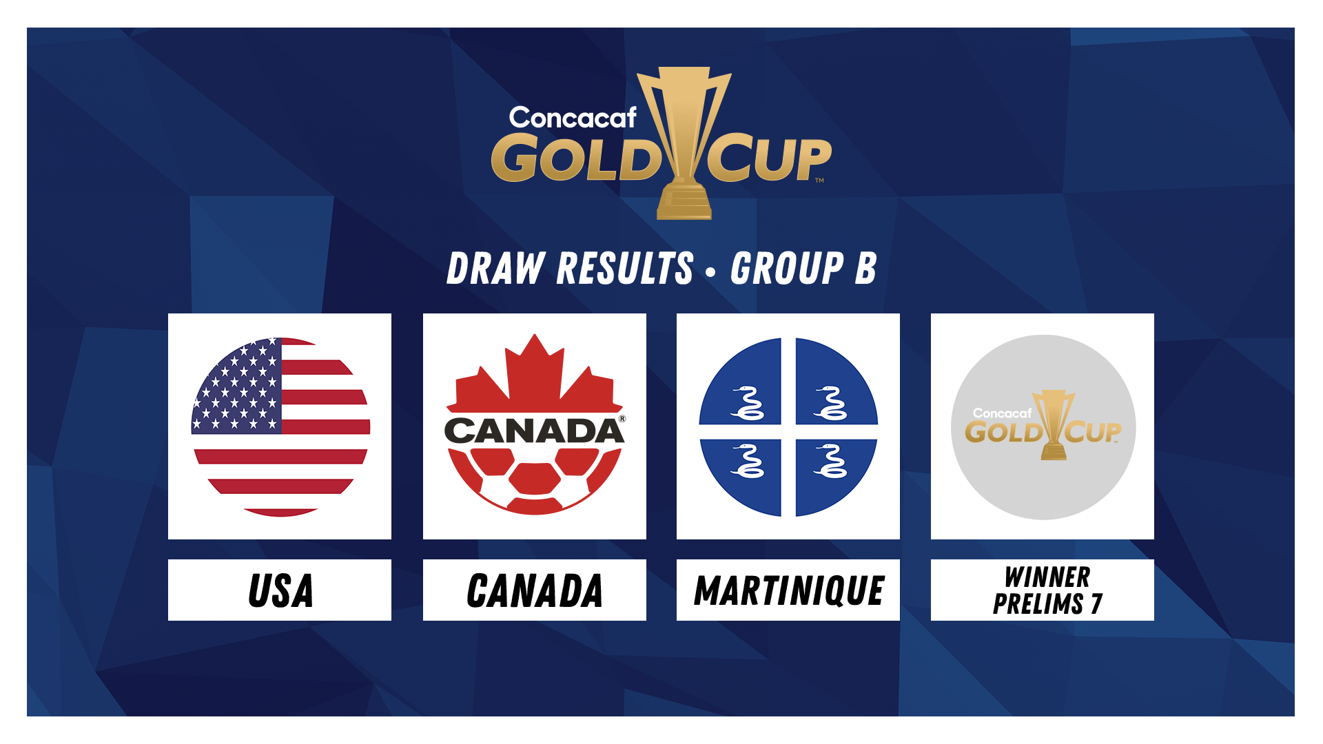 Gold Cup Draw Results